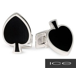 Sterling-Silver-Spade-Cufflinks-with-Faux-Cats-Eye